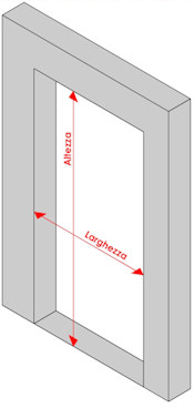 come prendere le misure per le porte a soffietto
