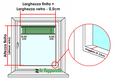 Dimensioni Porta Finestra A Due Ante.Veneziane Su Misura In Alluminio Da 15 Mm